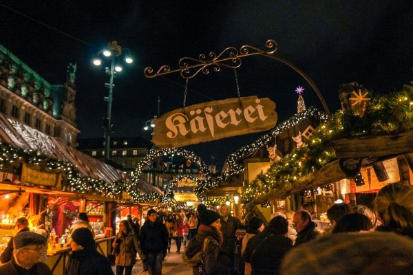 Christmas market at night!