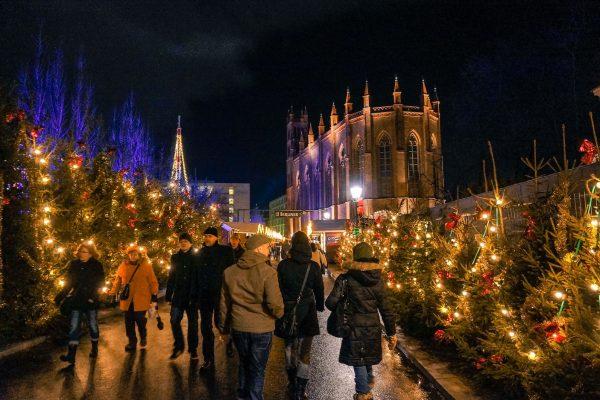One of the many, many, many Christmas markets in Berlin.